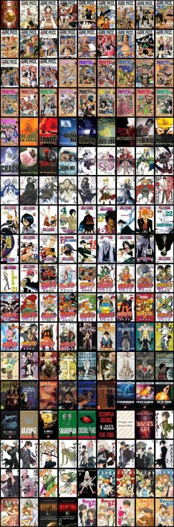 Bibliothèque graphique Manga