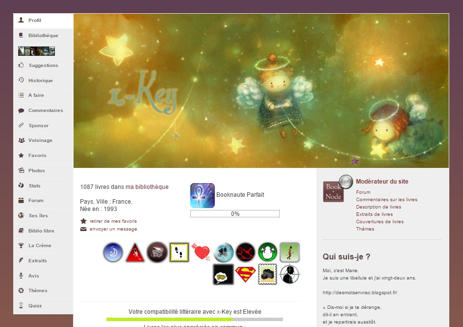 Personnalisation de profil par x-Key