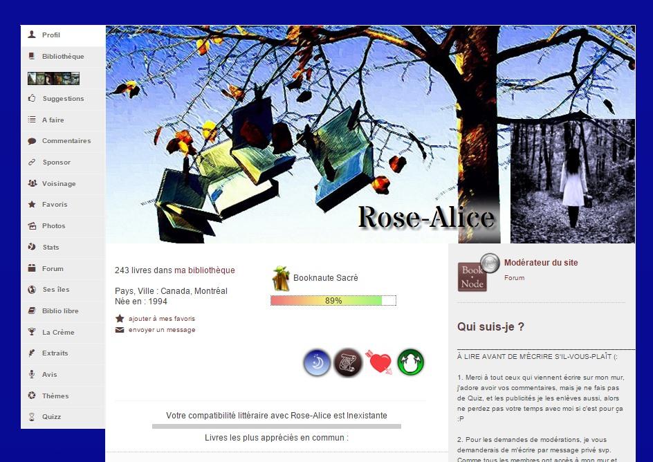Personnalisation de profil par Rose-Alice