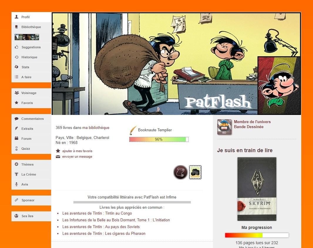 Personnalisation de profil par Patflash